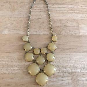 Cream colored bubble necklace from Francesca's
